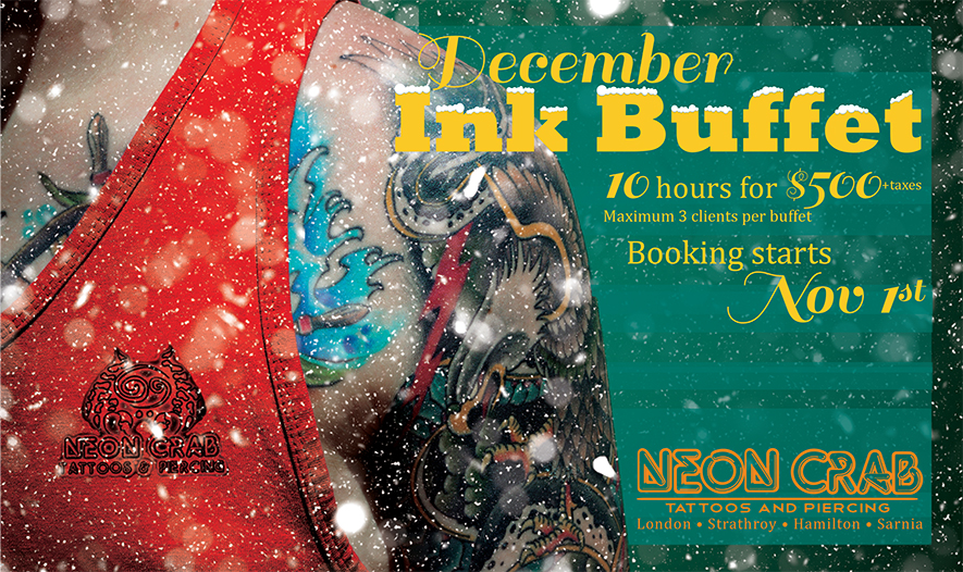 4c999fdc8efc5 No, not Christmas, Santa is coming - but not yet. That's right, you're  getting warmer.... INK BUFFET SEASON!!!!!! December ONLY - Artist of ...
