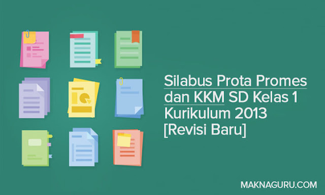 Silabus Prota Promes dan KKM SD Kelas 1 Kurikulum 2013