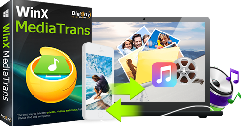 Move Photos from iPhone to PC without iTunes and WiFi - WinX MediaTrans