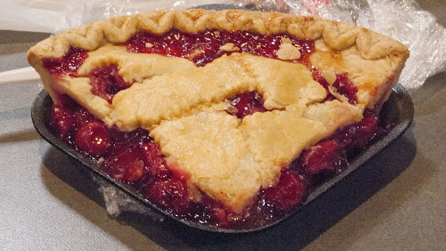 Slice of Amish Cherry Pie in Reading Terminal Market in Philadelphia