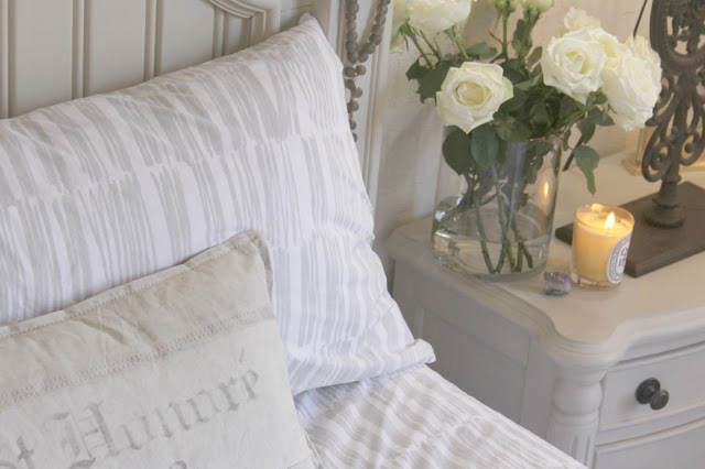 Brushstrokes light silver sheets from Judy Ross Textiles by Garnet Hill