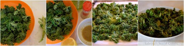 Chips de kale preparación