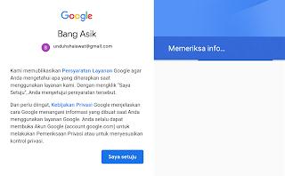 persyaratan layanan google