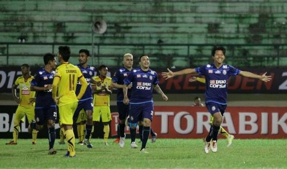 Menang Satu Goll Atas Sriwijaya FC, Arema Melenggang Ke Babak Semi Final Piala Presiden 2017