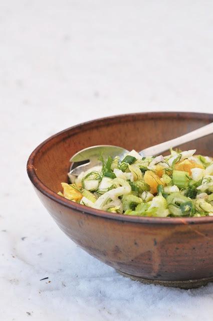 fennel slaw with garlic dressing recipe