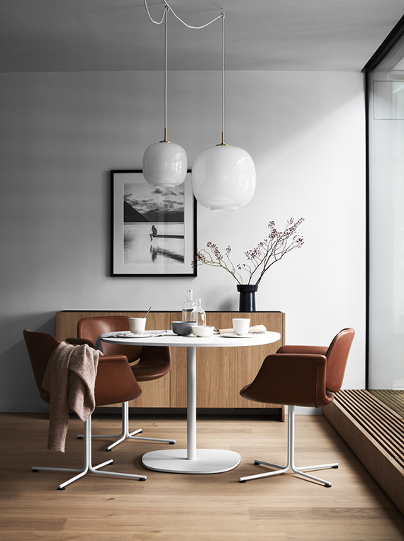 Eclectic Modern Dining Rooms In Wood Tones