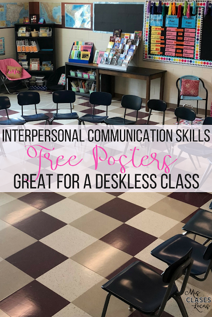 Interpersonal Communication Skills - Free posters for classroom expectations in a deskless classroom