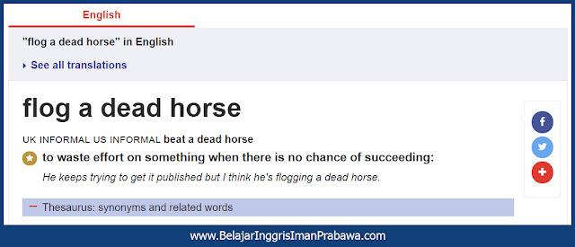 Arti Flog a Dead Horse