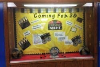 Hollywood Classroom bulletin board
