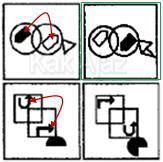 Penyelesaian Figural No. 34 TKPA SBMPTN 2016 Kode Naskah 321, pola gambar, pertukaran tempat objek