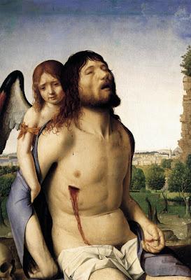 Antonello da Messina,Cristo in pietà e un angelo