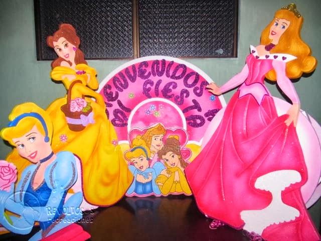 Kit decoracion fiesta princesas disney recreacionistas - Decoracion fiesta princesas disney ...
