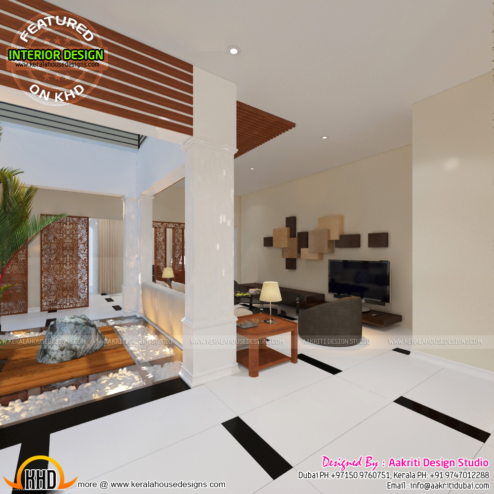 Master bedroom, foyer, study room - Kerala home design and ...