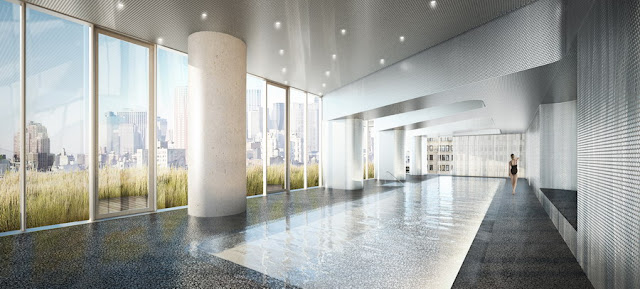 Rendering of 56 Leonard Street by Herzog & De Meuron and interior pool room
