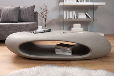 luxusny nabytok Reaction, nabytok z betonu, betonovy nabytok