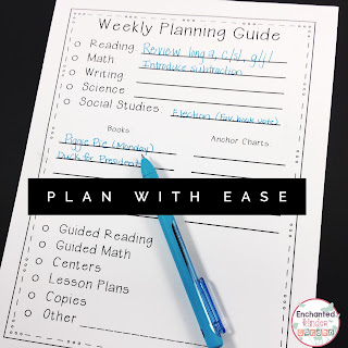 Planning is a breeze with this freebie! Use it to plan your week and check off what you have done and still need to do!