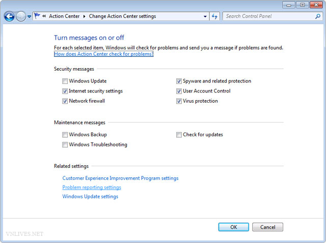 "Fix bug ""Check online for a solution later and close the program."" in Windows 7. 003"