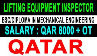 Lifting Equipment Inspector Qatar Jobs