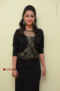 Telugu Actress Manasa Manohar Stills in Black Long Dress at Naku Nene Thopu Turumu Trailer Launch  0037.JPG