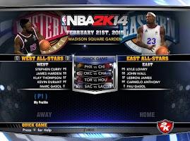 NBA 2k14 Custom Roster Update v4 : February 21st, 2015 - 2015 NBA All-Star - East vs West (and jerseys)