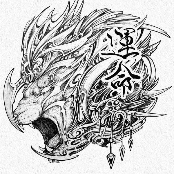 06-Tiger-Animal-Drawings-Syahid Zain-www-designstack-co