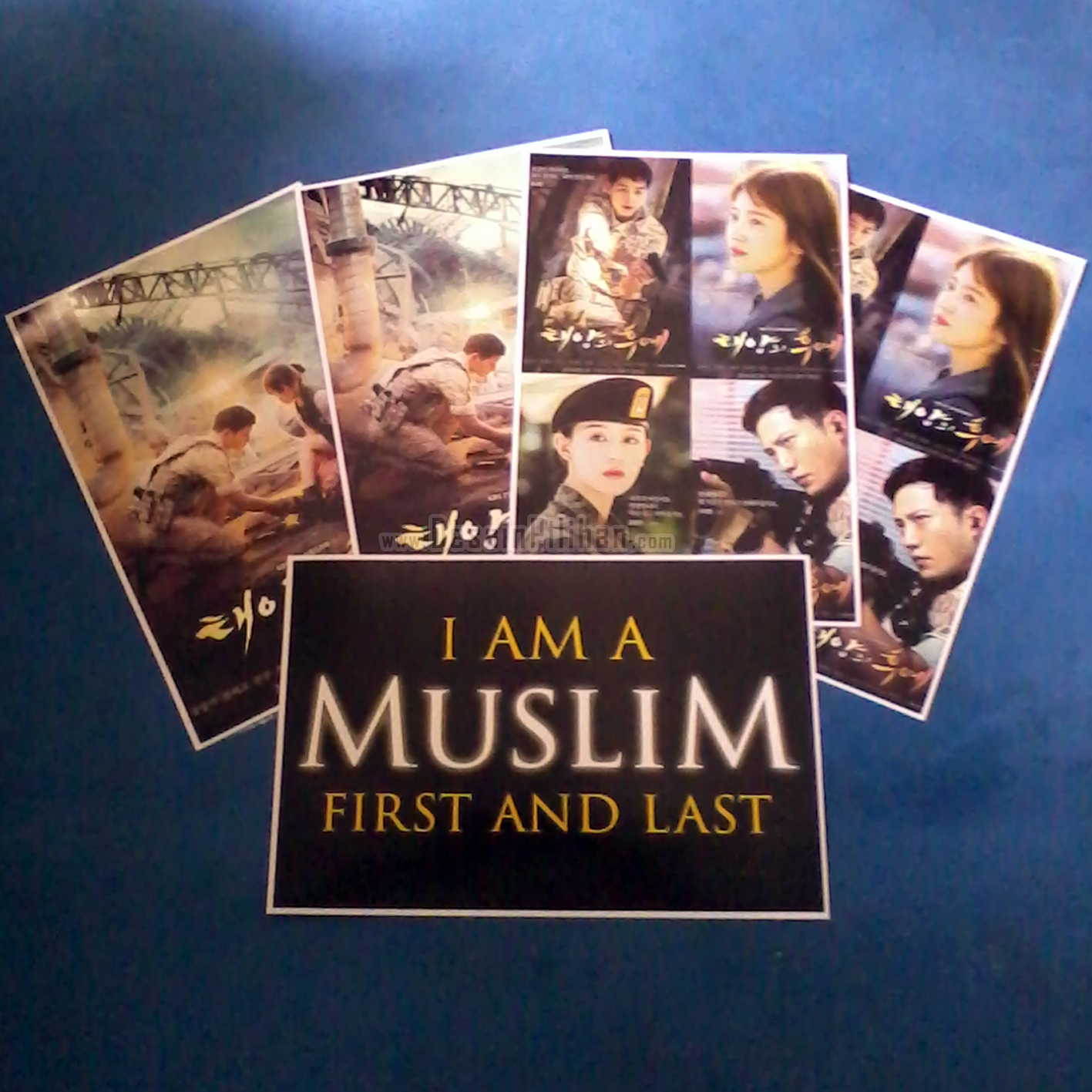 POSTER CUSTOM, POSTER MUSLIM, POSTER I AM MUSLIM FIRST AND LAST, POSTER SONG HYE KYO, POSTER SONG JOONG KYE, POSTER DESCENDANTS OF THE SUN