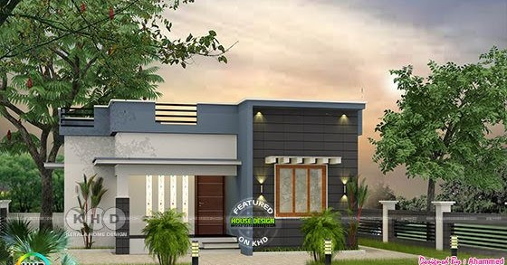 Low Budget Flat Roof 2 Bedroom House 700 Sq Ft Kerala