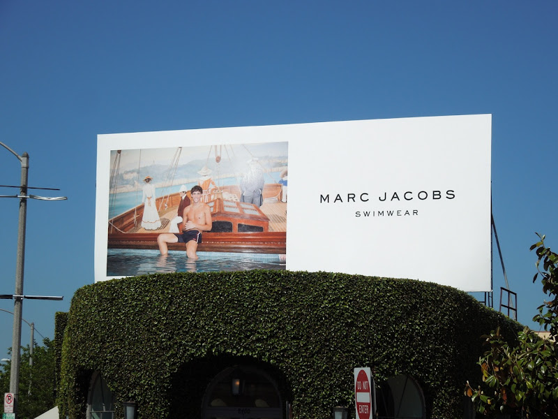 Marc Jacobs Men's swimwear 2012 billboard