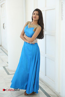 Telugu Actress Akshita (Pallavi Naidu) Latest Stills in Blue Long Dress at Inkenti Nuvve Cheppu Movie Promotions  0079.jpg
