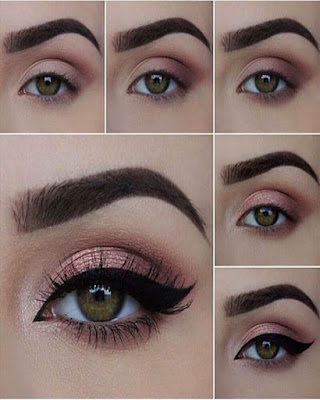 eye makeup pink for day