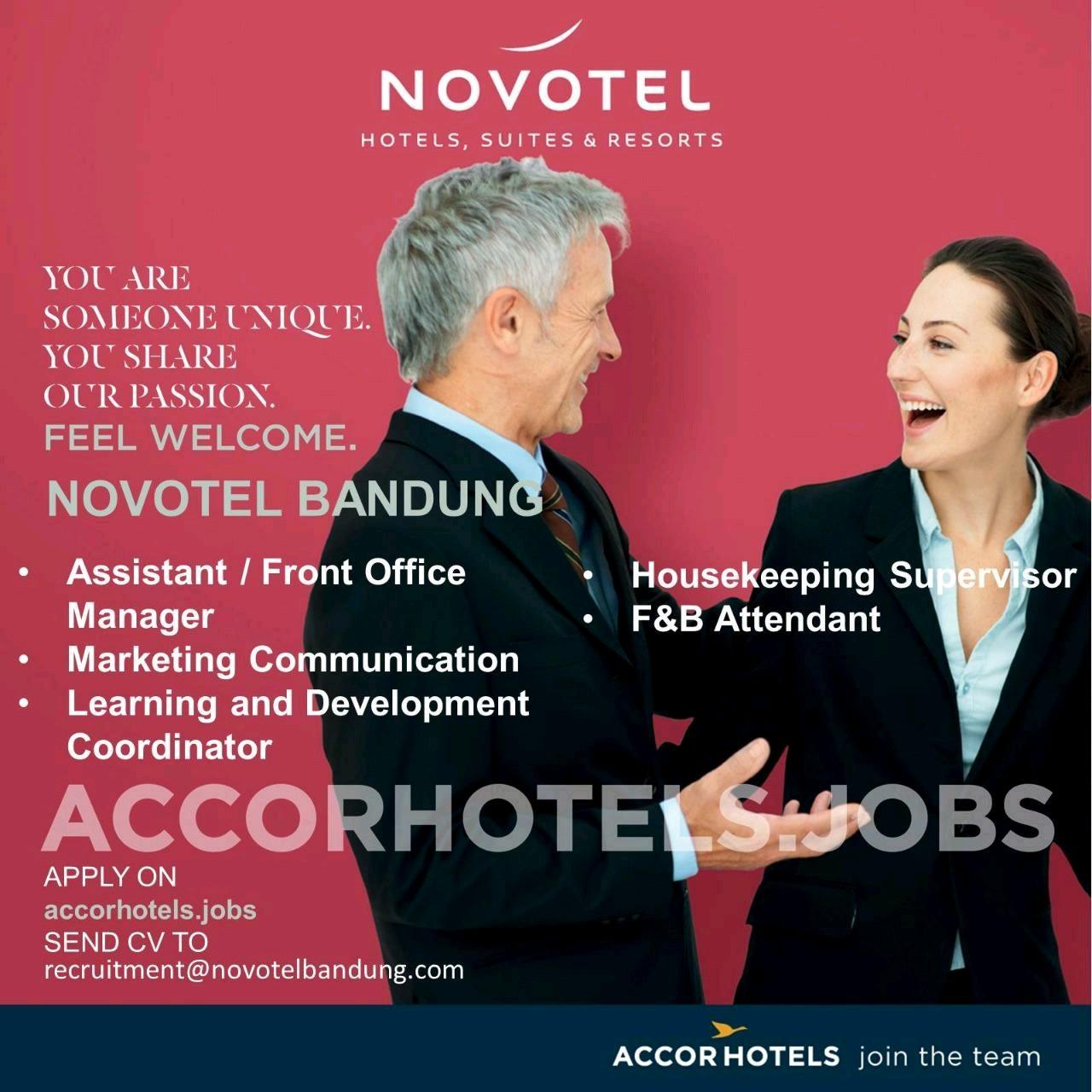 Lowongan Kerja Hotel Novotel Bandung (5 Posisi)   Pencari Jobz