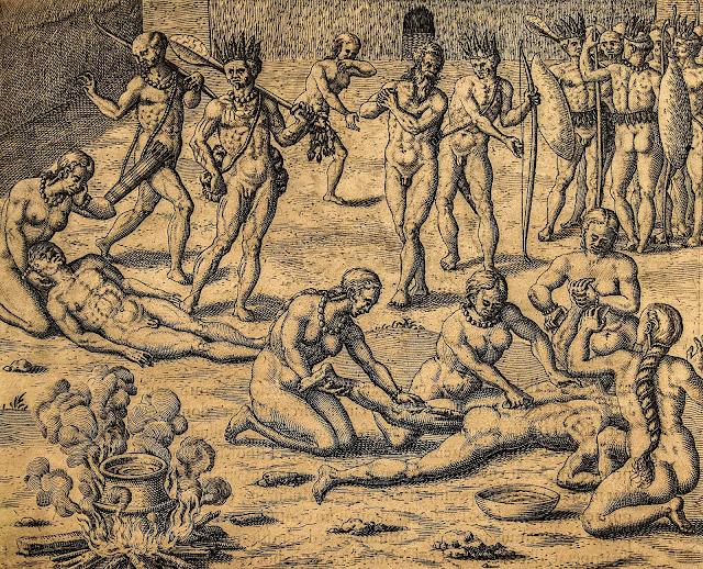 Theodoor de Bry: Cannibalismo
