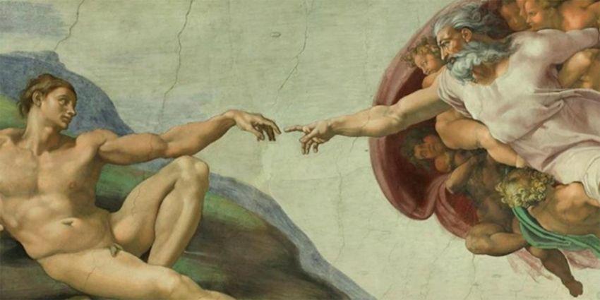 La creazione di Adamo, volta della Cappella Sistina, Roma.