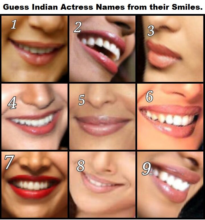 Guess Indian Actress names from their Smiles