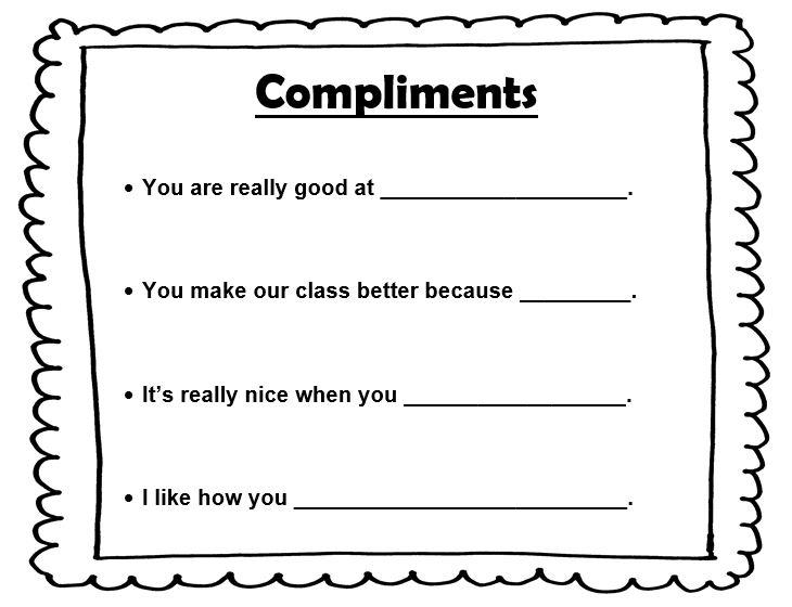 Compliments Lesson Plan