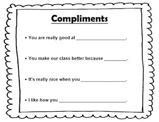 Compliments lesson plan sentence stems