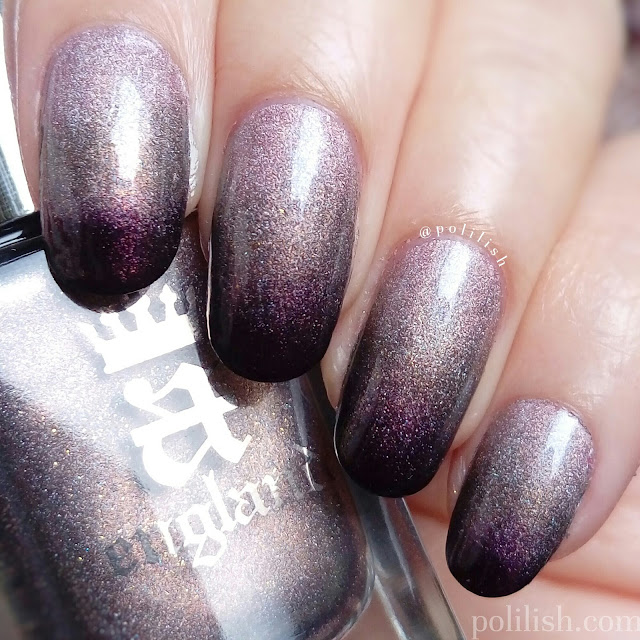 Holographic gradient with A-England 'Her Rose Adagio', 'Virgin Queen', 'Incense Burner'