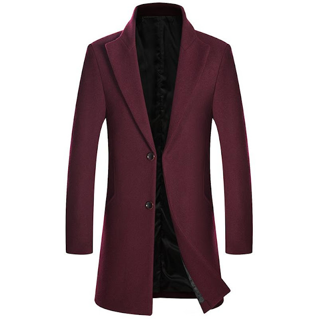Men's Wool Trench Coat, Created For CKESE