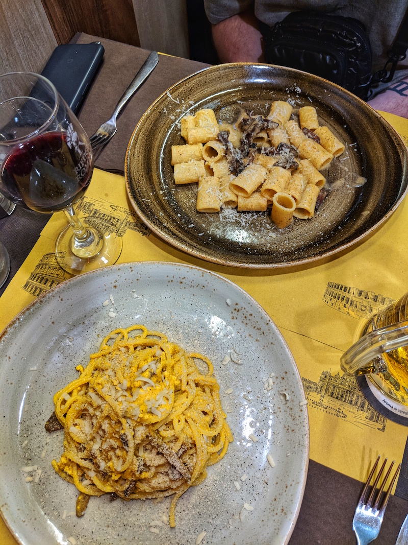 Rifugio Romano even offers entirely vegan traditional pasta dishes such as a cabonara