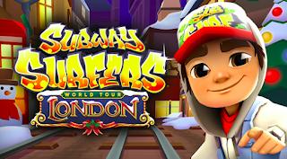 Download game Subway Surfers London versi apk mod. Dimana anda akan dapat kunci dan gold tak terbatas.