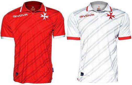 Givova apresenta as novas camisas de Malta - Show de Camisas 0b6fe07e55d56