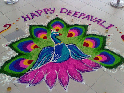 happy diwali rangoli pictures