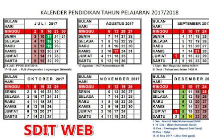 DOWNLOAD KALENDER PENDIDIKAN TAHUN AJARAN 2017/2018 SD/SMP/SMA