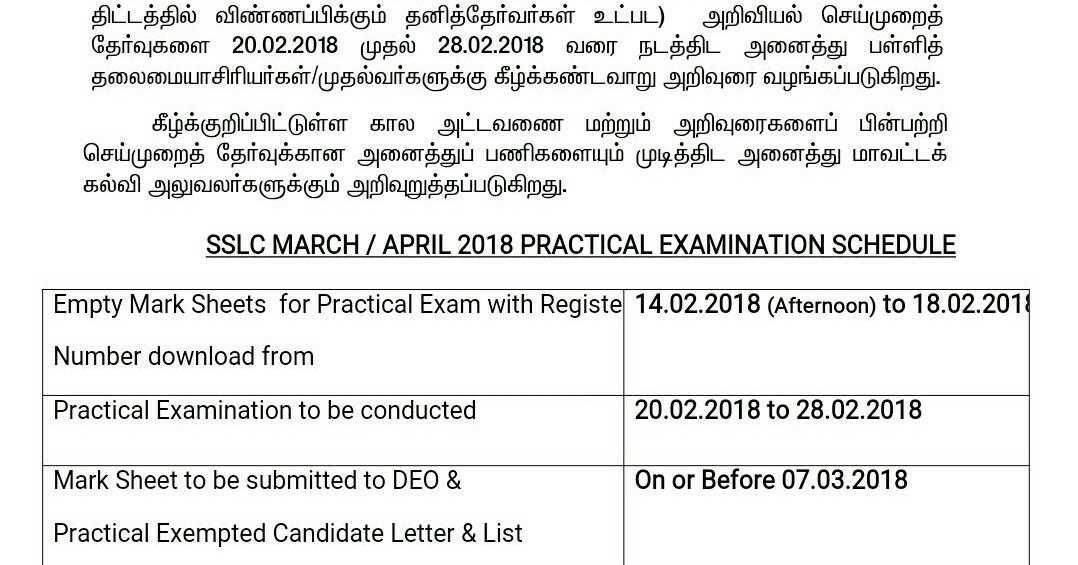 SSLC Science Public Exam Practical 2018