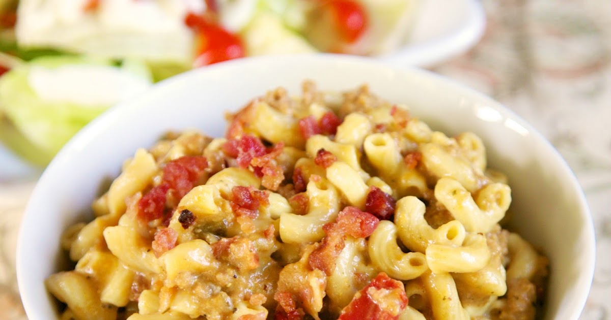 {Freezer Meal} Bacon Cheeseburger Pasta - Plain Chicken