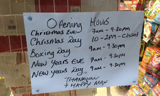 Christmas and New Year Opening Hours in Cheadle Hulme