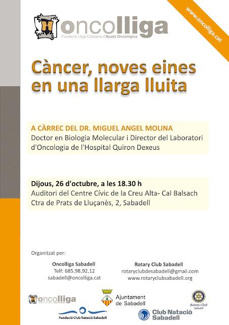 Esguard de Dona - Conferència - Càncer, noves eines en una llarga lluita - A càrrec del Dr. Miguel Angel Molina