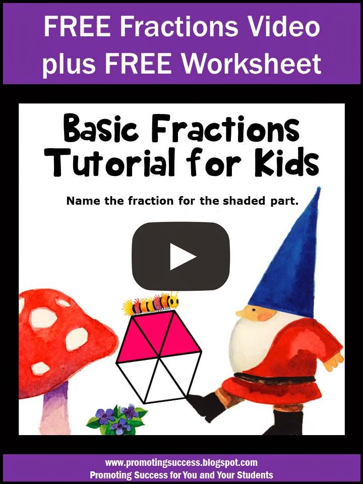 Promoting Success Free Fractions Tutorial Video Plus Free – Fraction Concepts Worksheets