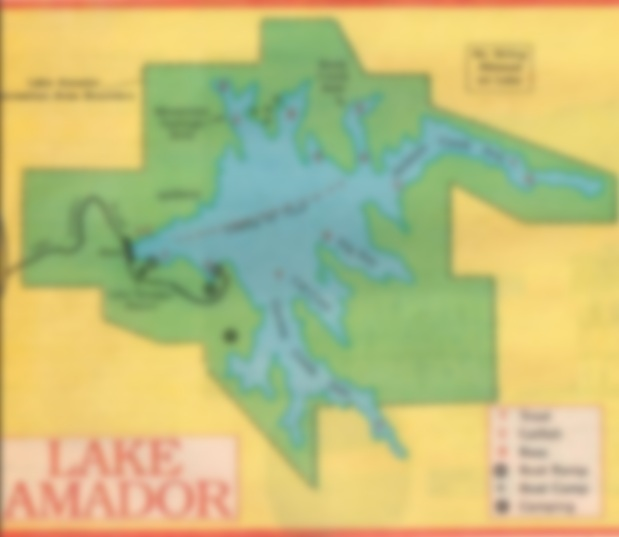 fishing map and report Lake Amador, BEST BAIT, WHAT TO USE