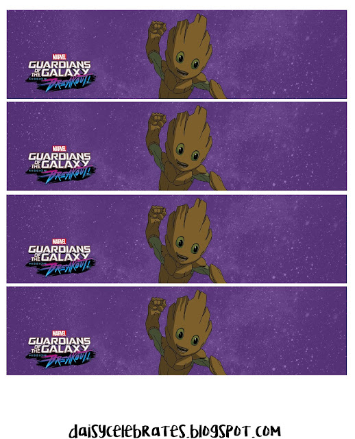 Guardians of the Galaxy Party. Baby Groot Free Printable Mini Kit.